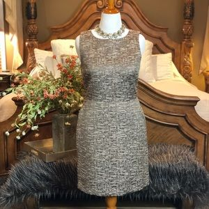 Banana Republic Metallic Woven Sheath Dress St 12